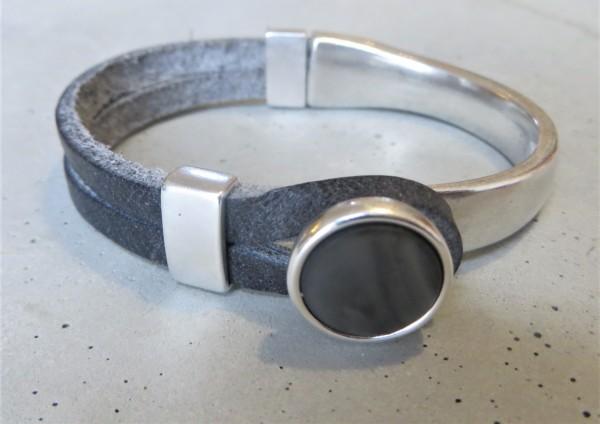 QOSS Armband GWEN schwarz-anthrazit M