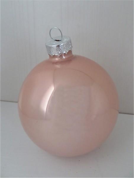 Christbaumschmuck Glaskugel rosa glänzend 35 mm, Farbton 1