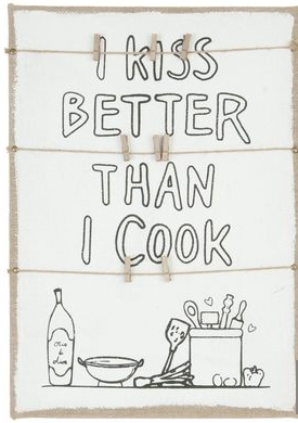 Canvas Schild I kiss better than I cook