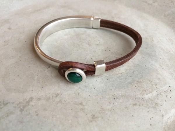 QOSS Armband EVA Braun-Smaragdgrün M