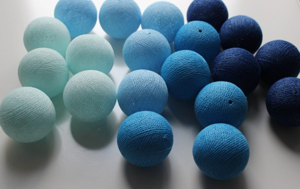 Cotton ball lights 20er Lichterkette Blue