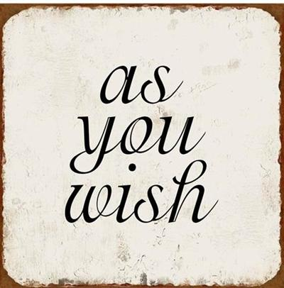 Witzigschilder - Metall Schild as you wish - Onlineshop Tante Emmer