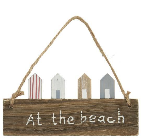 """Holz Schild """"At the beach"""" mit Häusern Ib Laursen ApS"""