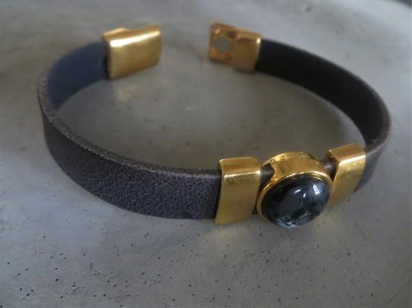 QOSS Armband KIM GOLD Vintage-Schwarz/ Anthrazit, L
