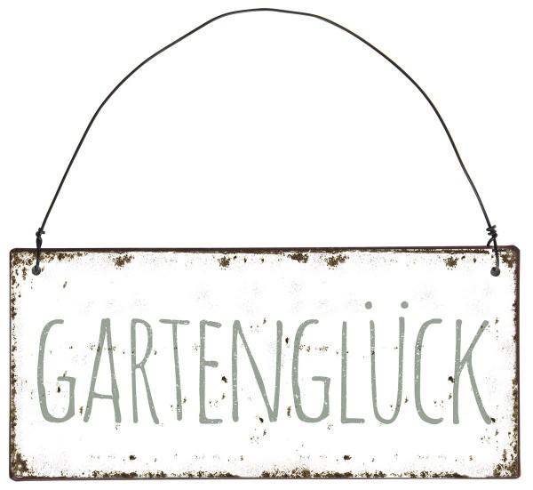 """Metall Schild """"Gartenglück"""""""