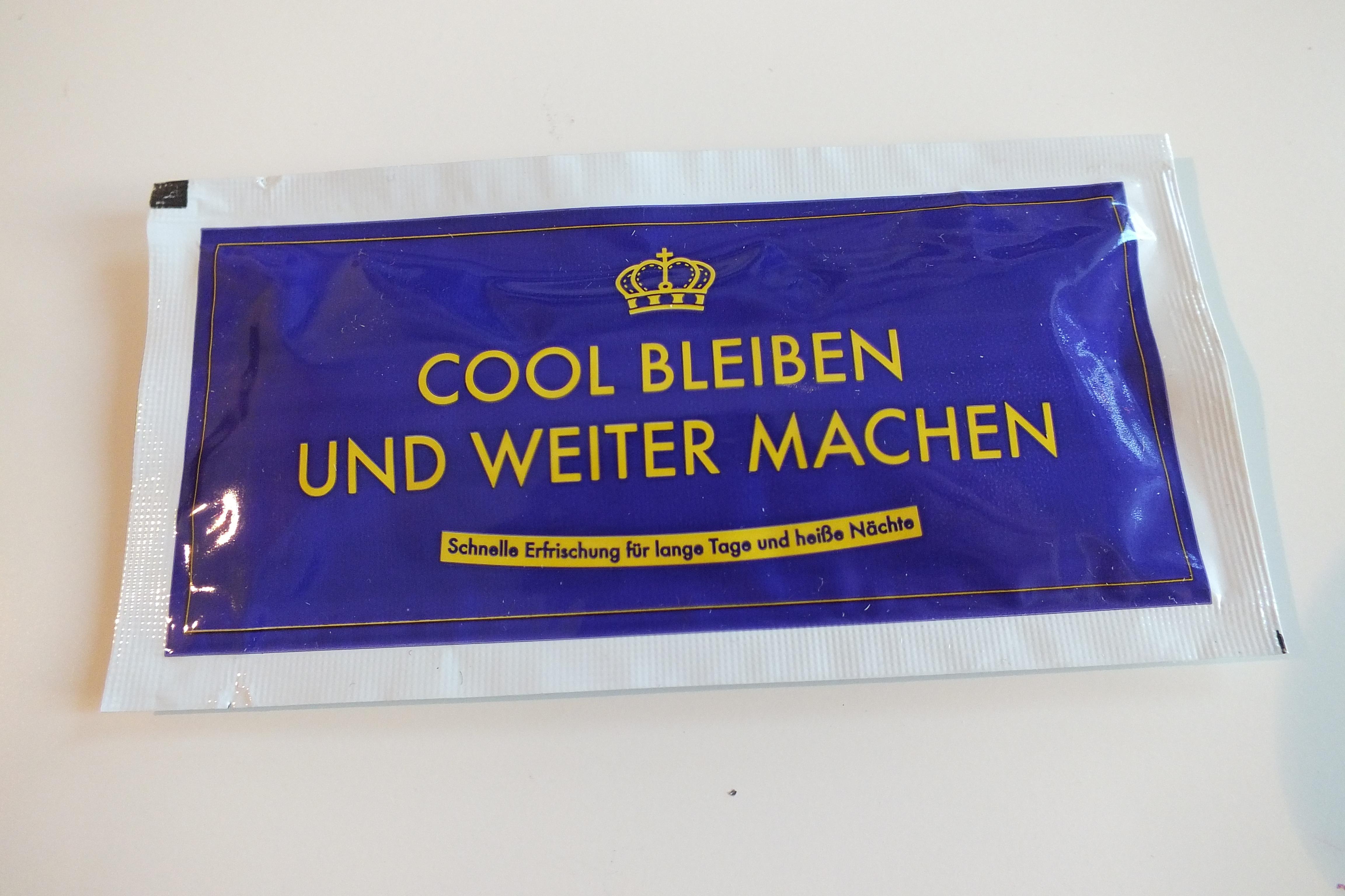 Ausgefallenkleineaufmerksamkeiten - Erfrischungstuch Cool bleiben - Onlineshop Tante Emmer