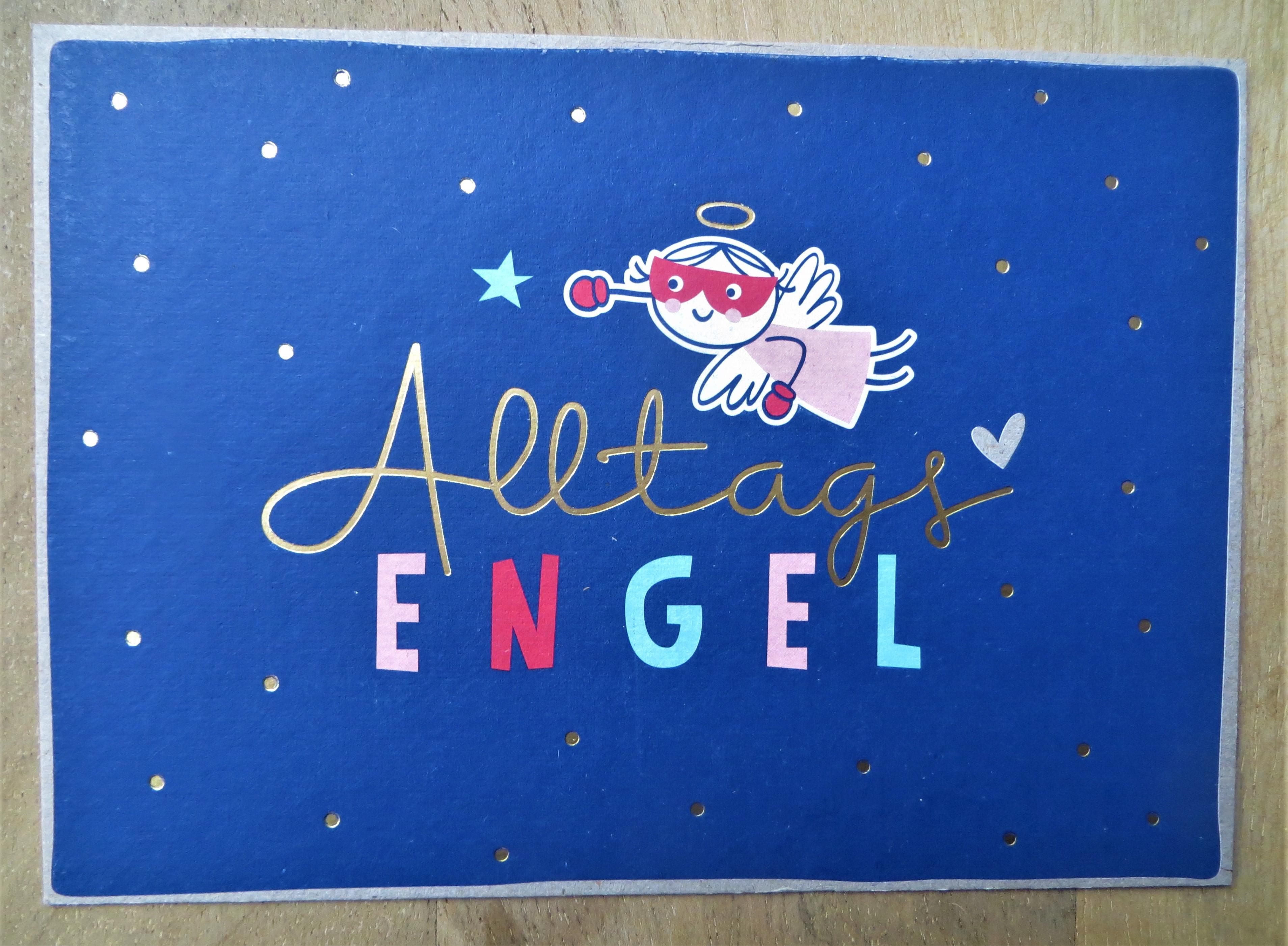 Nützlichgrusskarten - Postkarte AlltagsENGEL KUNST und BILD - Onlineshop Tante Emmer