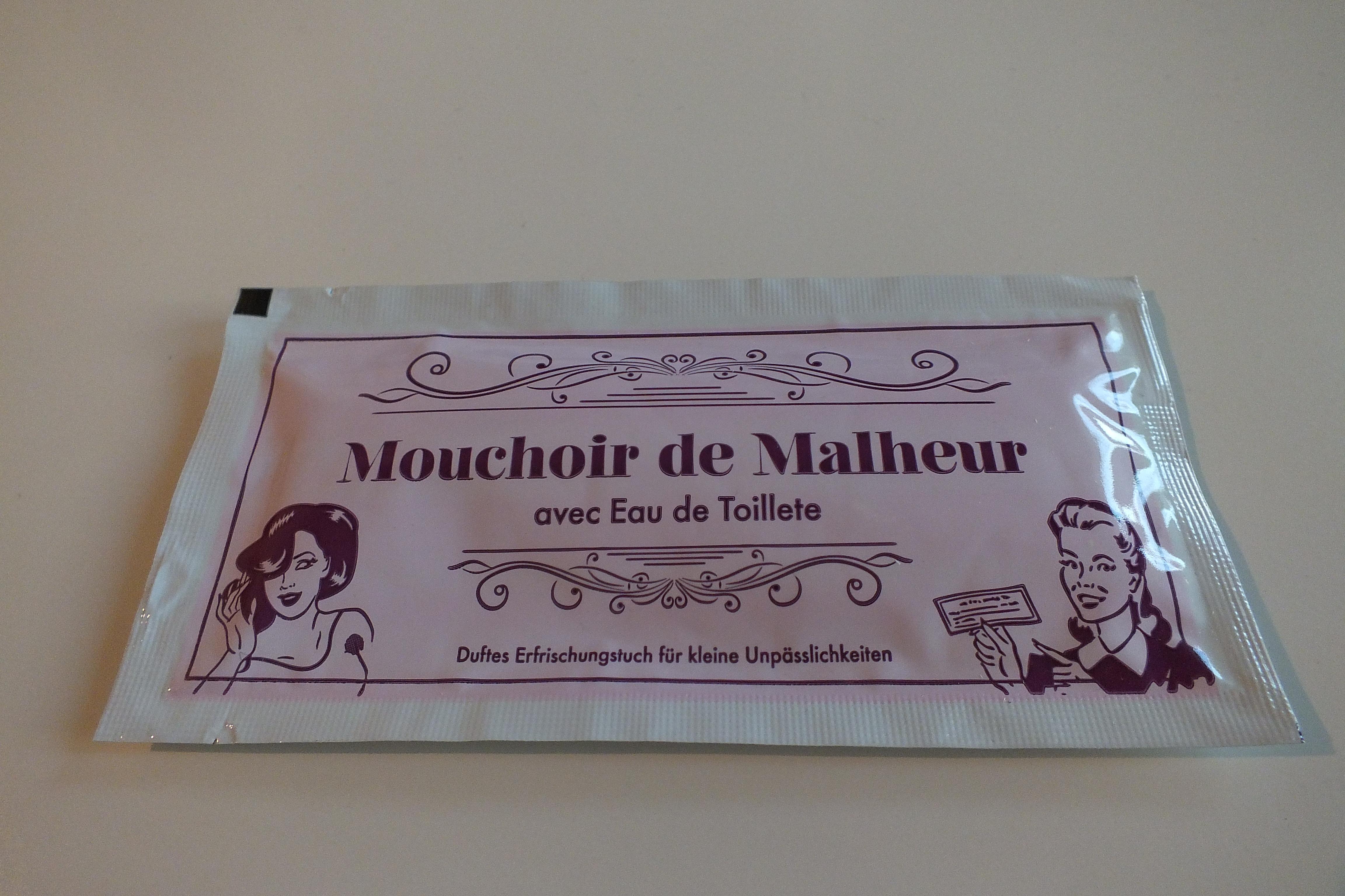 Ausgefallenkleineaufmerksamkeiten - Erfrischungstuch Mouchoir de Malheur - Onlineshop Tante Emmer