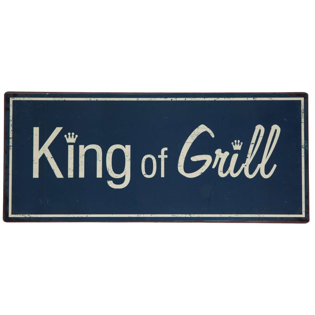 Metallschild King of grill