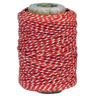 Garn rot-weiß 100% Baumwolle 50m