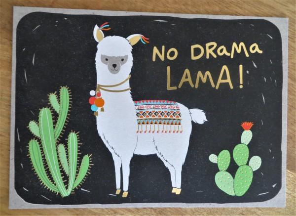 """Postkarte """"No Drama Lama!"""" KUNST und BILD"""