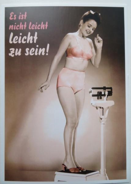"""Postkarte Karte """"Es ist nicht leicht leicht zu sein"""" Paloma"""