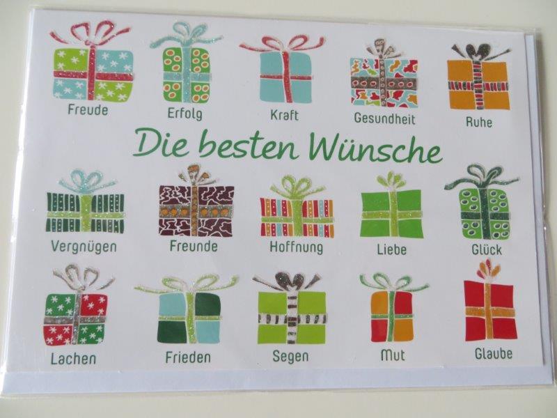 Klappkarte Weihnachtskarte Die besten Wünsche Kultura