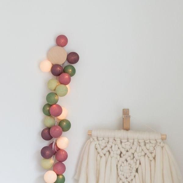 """Cotton ball lights 20er Lichterkette """"Forest Fruit"""""""