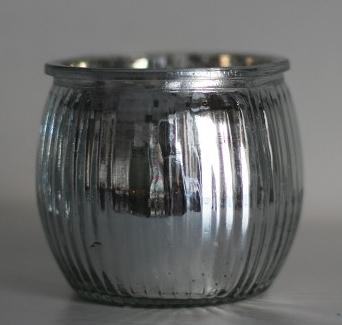 Nützlichdekoration - Kerzenhalter Windlicht in Silber - Onlineshop Tante Emmer