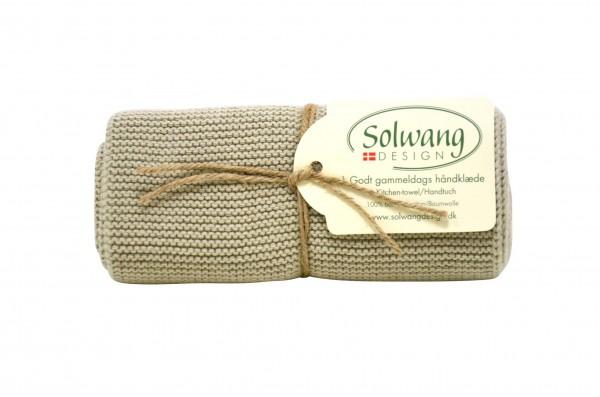 Küchentuch / Handtuch gestrickt, Olive