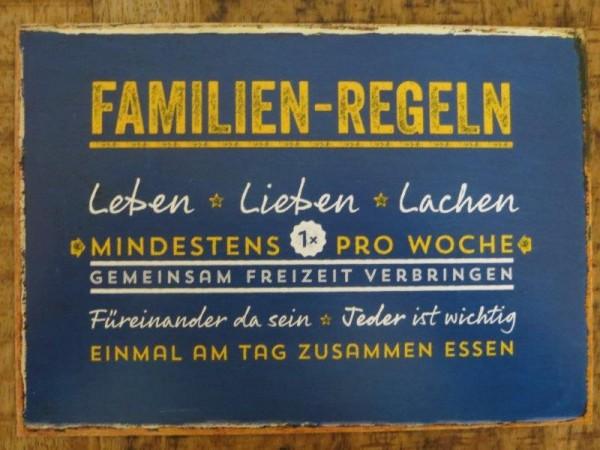 """Postkarte """"FAMILIEN-REGELN"""""""