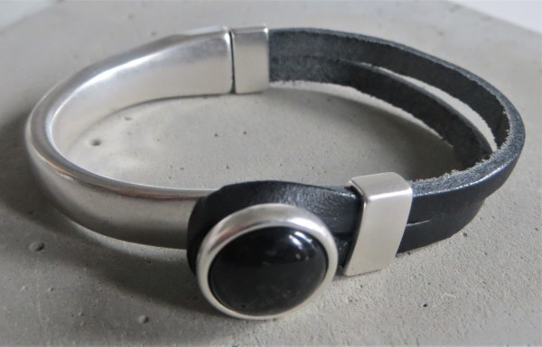 QOSS Armband GWEN schwarz-schwarz L