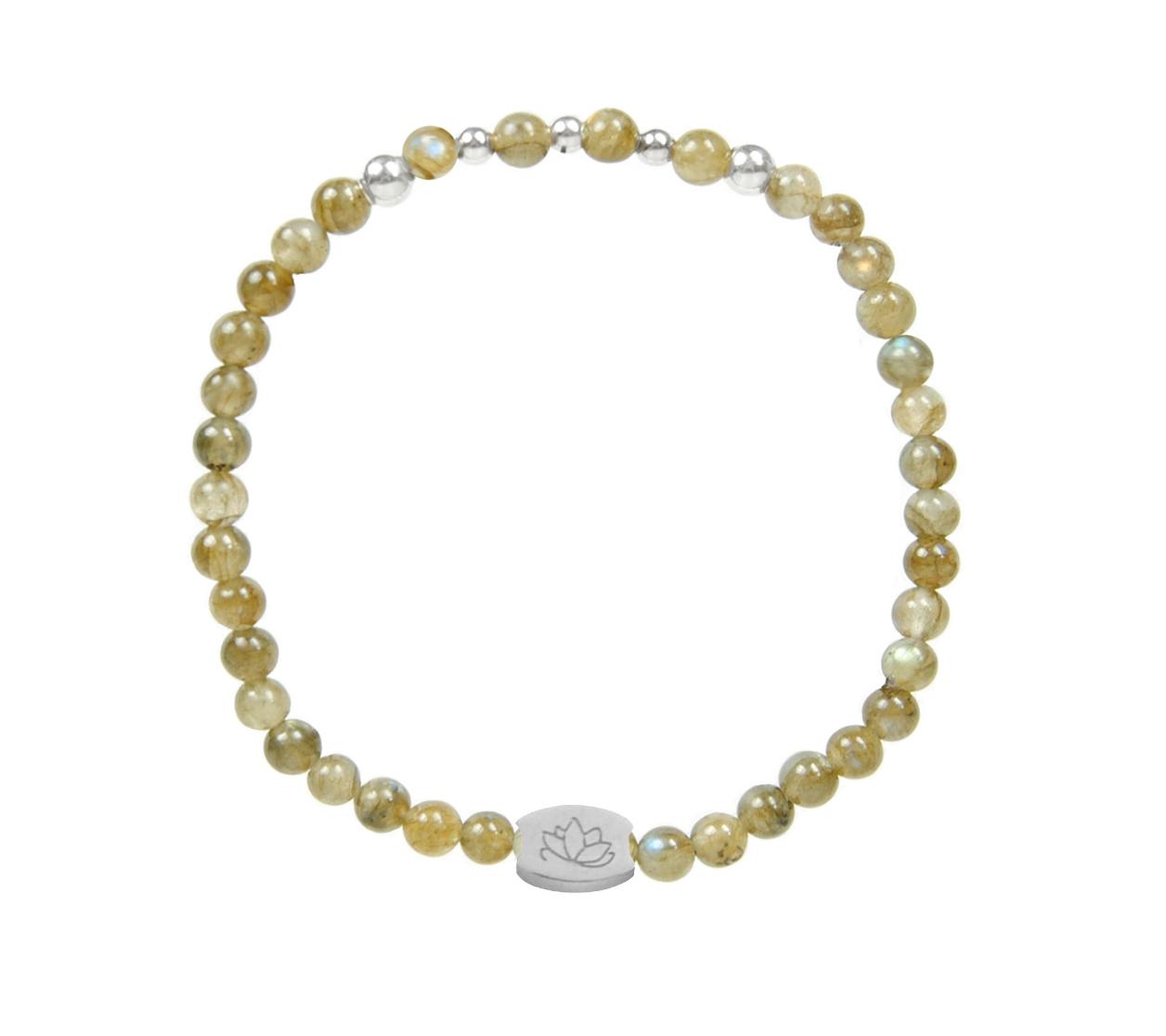 Armbaender für Frauen - MAS jewelz Armband Labradorit Silber 4mm  - Onlineshop Tante Emmer