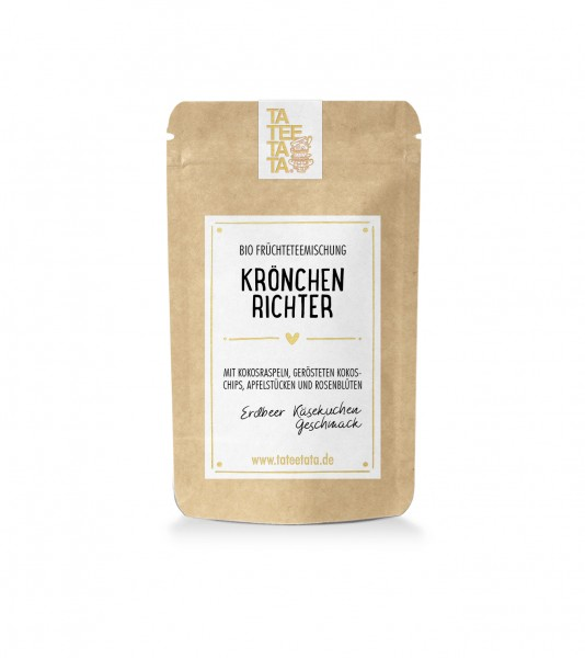 """Probier-Tüte Bio Früchte-Tee 15 g """"Krönchenrichter"""" TaTeeTaTa"""