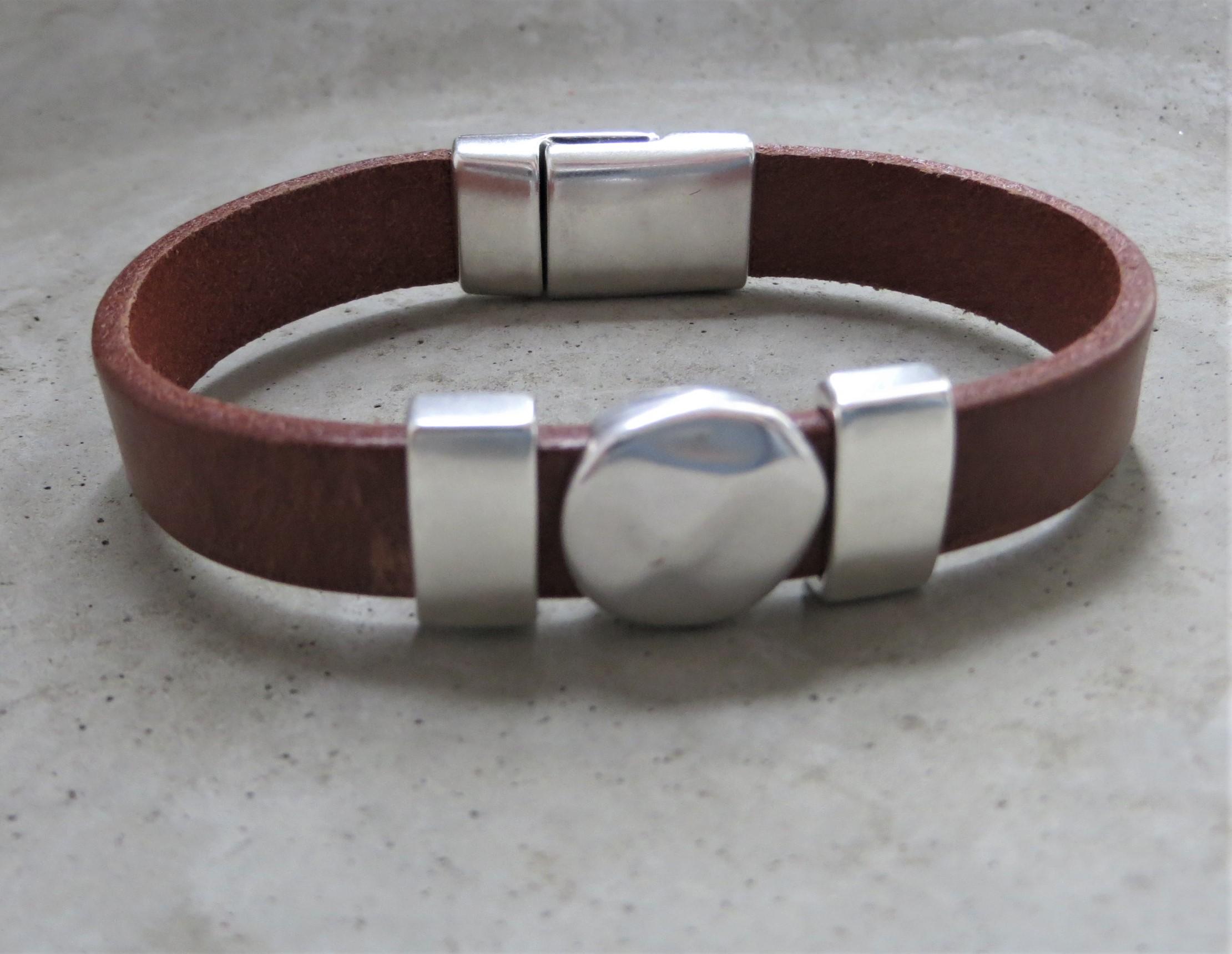 Armbaender - QOSS Armband KIM Braun Silber L  - Onlineshop Tante Emmer