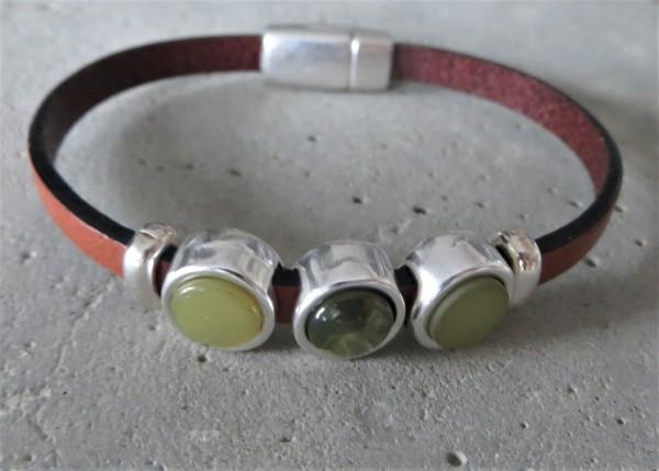 QOSS Armband MILO braun-grün S