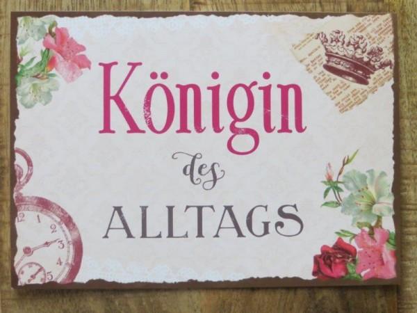 "Postkarte ""Königin des ALLTAGS"""