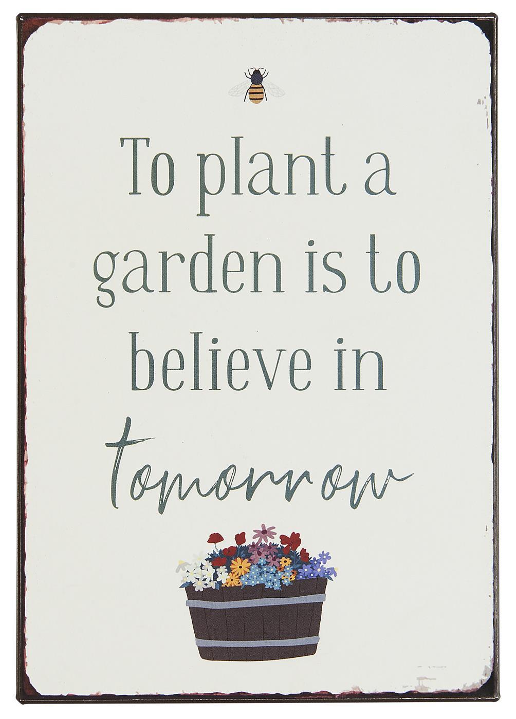 Witzigschilder - Metallschild To plant a garden .... Ib Laursen ApS - Onlineshop Tante Emmer