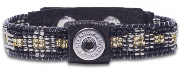 NOOSA PETITE Armband Raw Romance HEALING schwarz-silber S