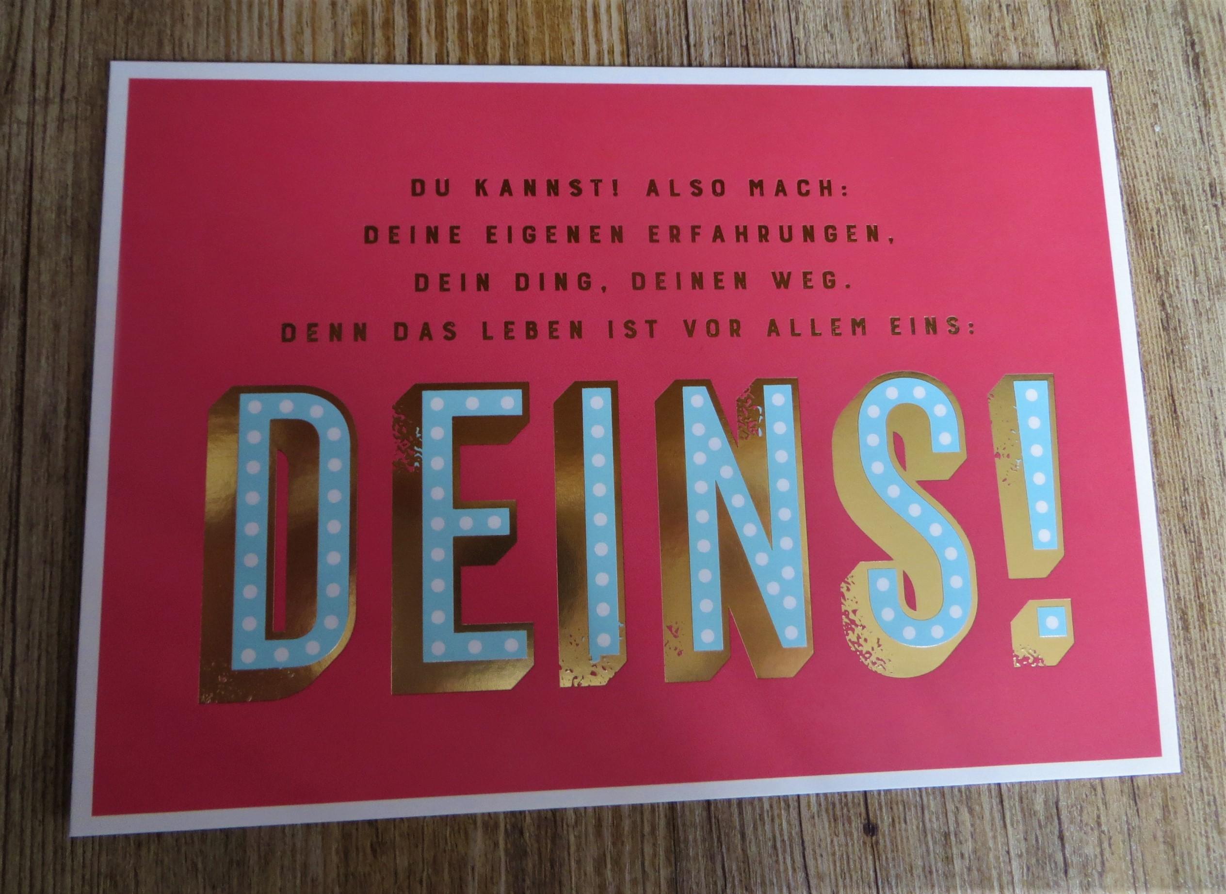Postkarte DU KANNST ALSO MACH DEINE EIGENEN ERFAHRUNGEN DEIN DING... VintageArt