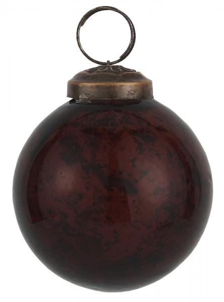 Weihnachtskugel pebbled glass bordeaux 5,8 cm - Serie Stillenat - Ib Laursen ApS