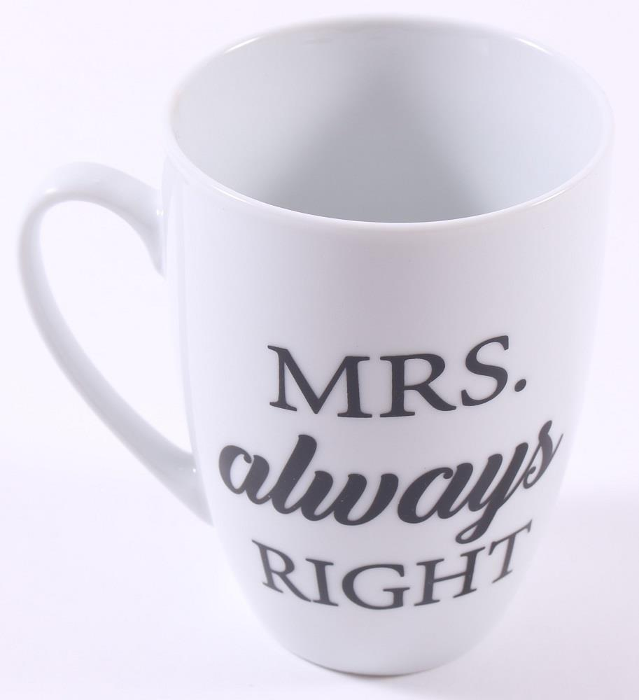 Cup Kaffeebecher Mrs Always right