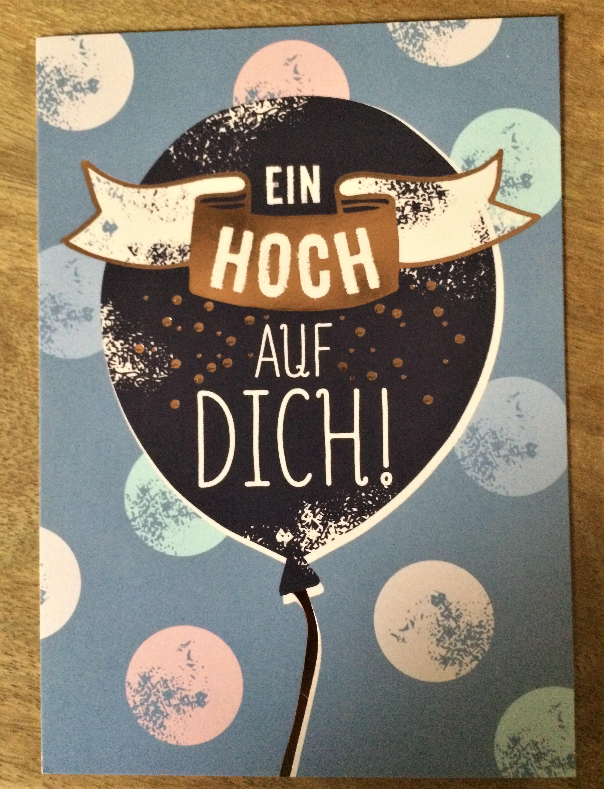 Nützlichgrusskarten - Postkarte Ein Hoch auf dich - Onlineshop Tante Emmer