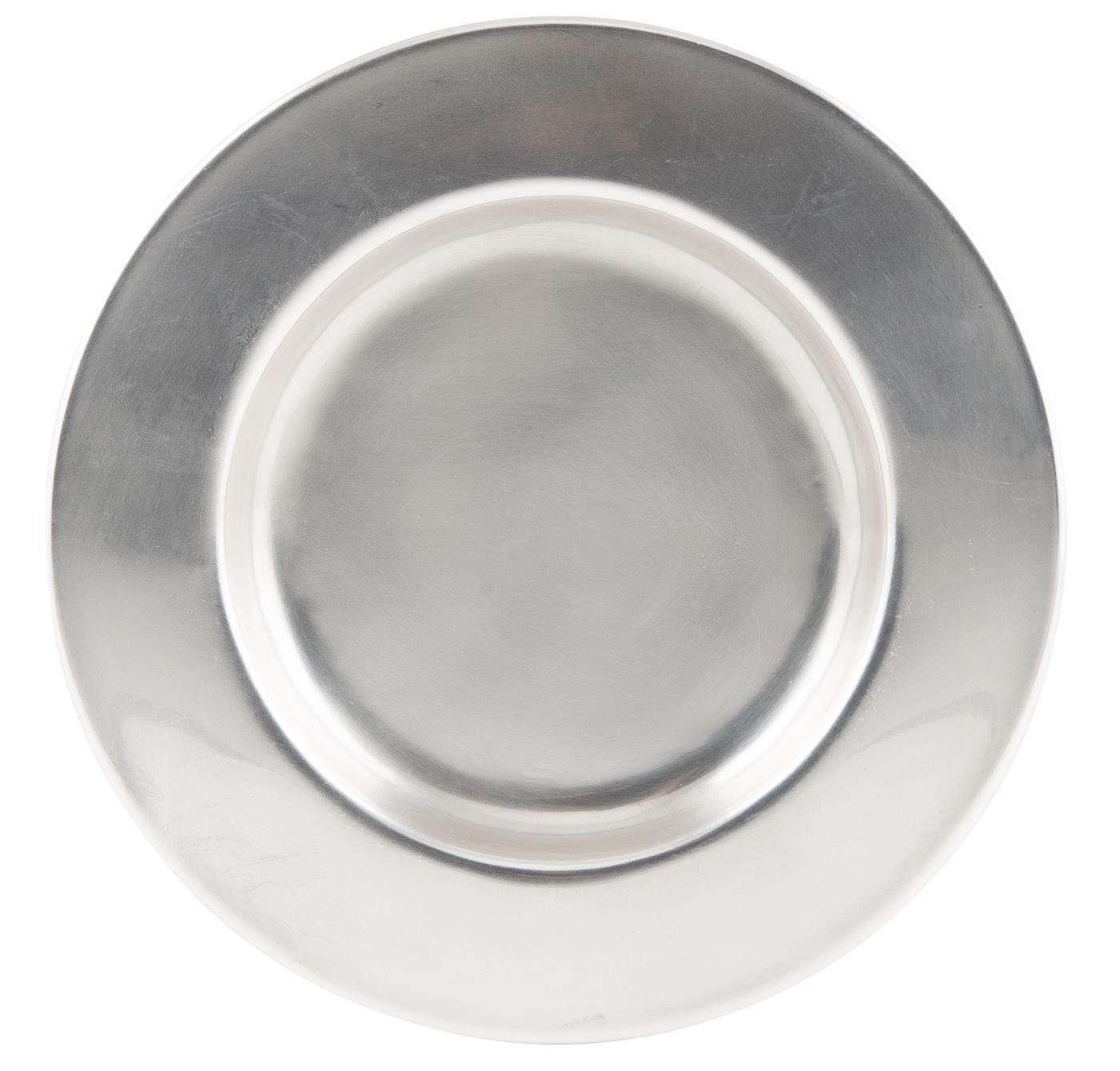 Kerzentablett Dekoteller Elegance Silber 155cm