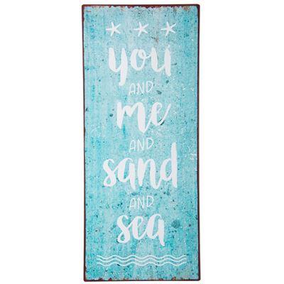 Metall Schild you and me and sand and sea