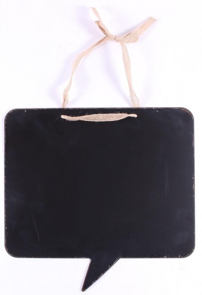 Tafel / Blackboard in Form einer rechteckigen Sprechblase