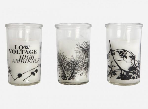 Kerzenlicht Glas mit Kiefernzweigen Ambience House Doctor