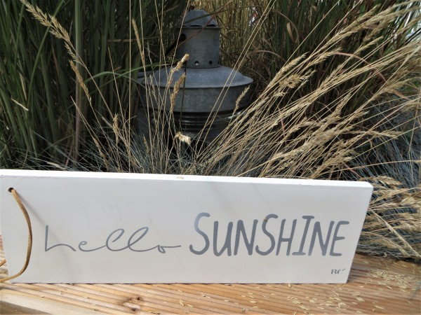 "Holzschild ""hello Sunshine"""