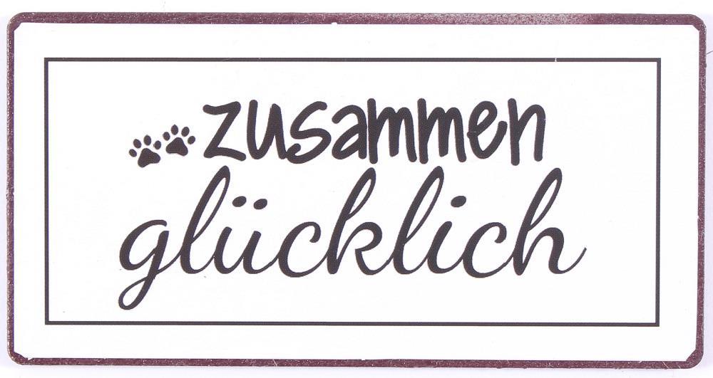 Witzigschilder - Magnet zusammen glücklich - Onlineshop Tante Emmer
