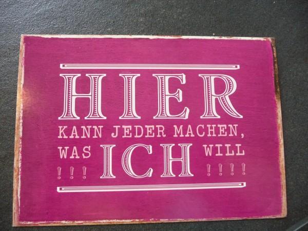 """Postkarte """"HIER KANN JEDER MACHEN, WAS ICH WILL!!!! """" Vintage Art"""