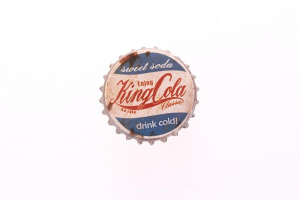 "Magnet in Kronkorkenform ""Sweet soda Enjoy King Cola Drink Cold"" Lafinesse"
