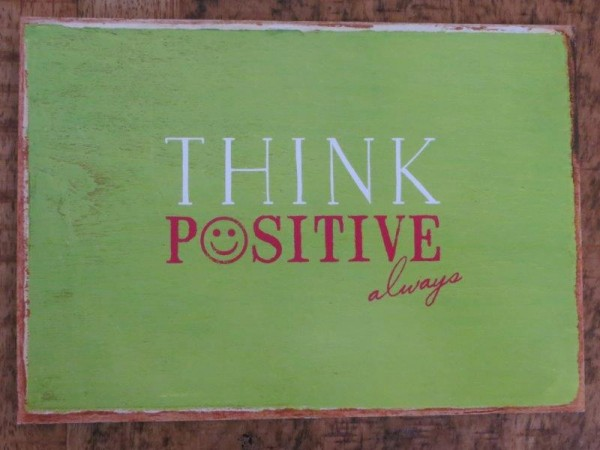 "Postkarte ""THINK POSITIVE always"""