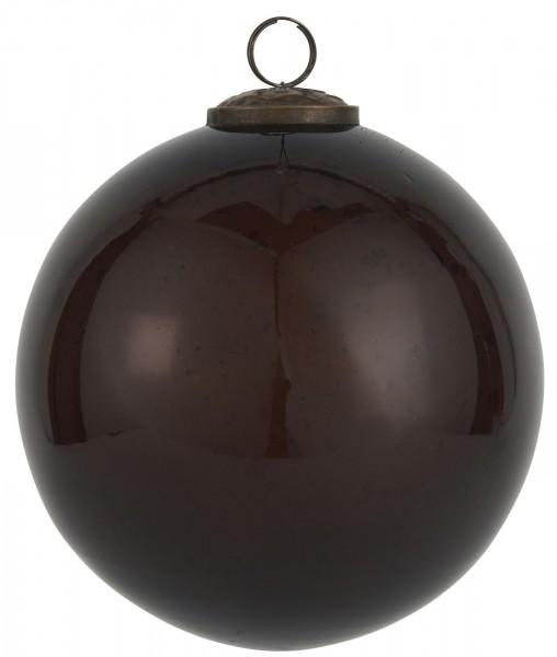 Weihnachtskugel pebbled glass bordeaux 13,4 cm - Serie Stillenat - Ib Laursen ApS