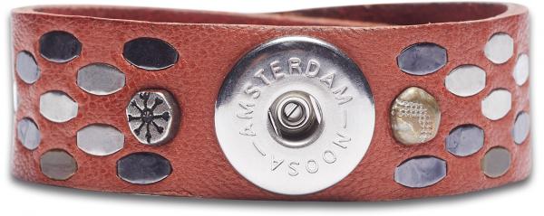 NOOSA Armband Raw Romance Staples Brique Ziegelrot Gr. S