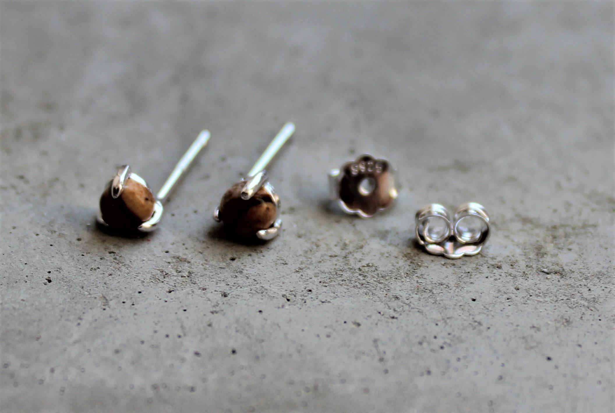 Ohrringe für Frauen - MAS jewelz Ohrstecker Bildjaspis Silber  - Onlineshop Tante Emmer