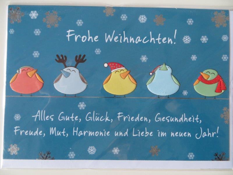 Nützlichgrusskarten - Klappkarte Weihnachtskarte Frohe Weihnachten Alles Gute Glück .... Kultura - Onlineshop Tante Emmer