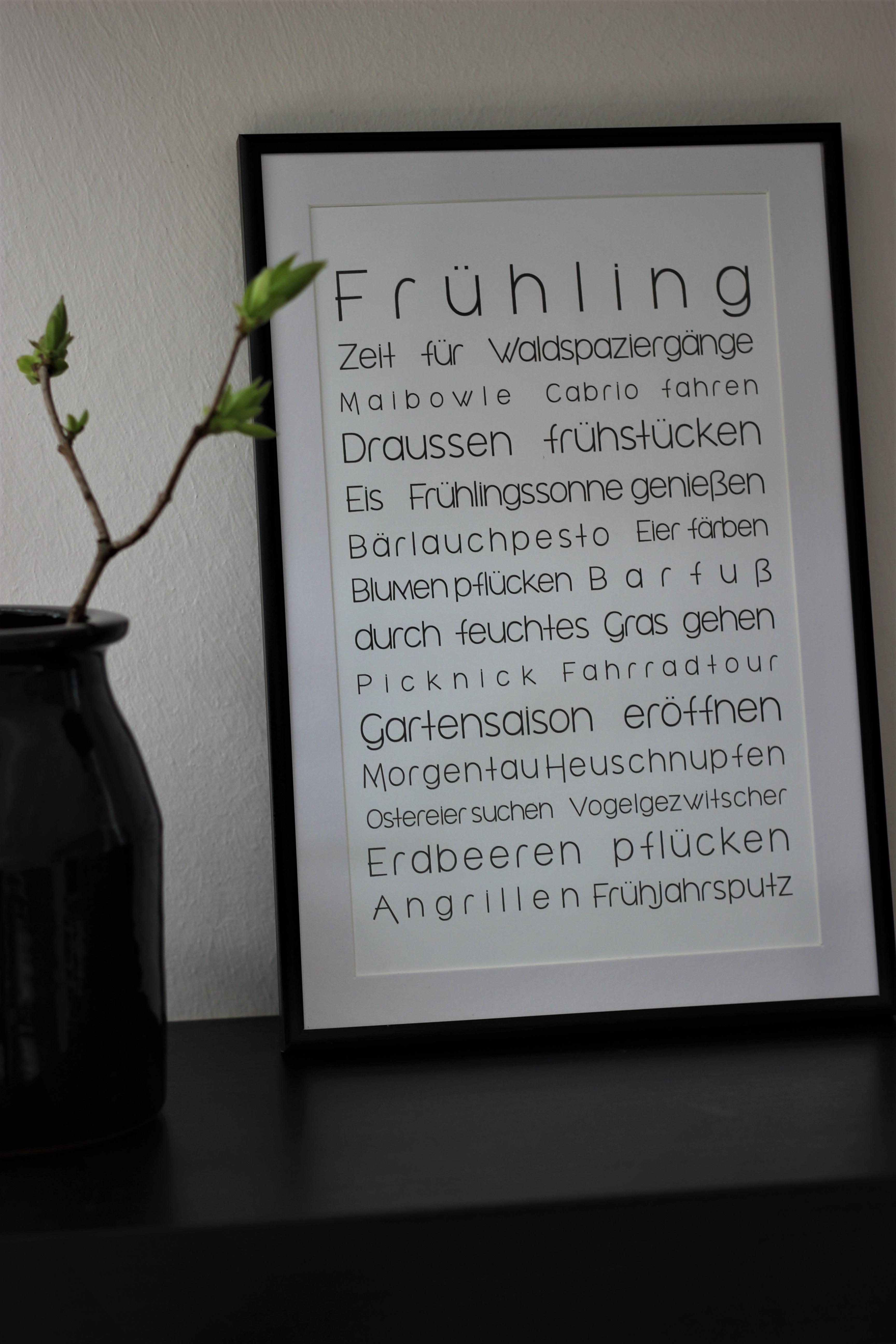 Witzigschilder - Bild Druck To Do Liste FRÜHLING weiß 16x26cm - Onlineshop Tante Emmer