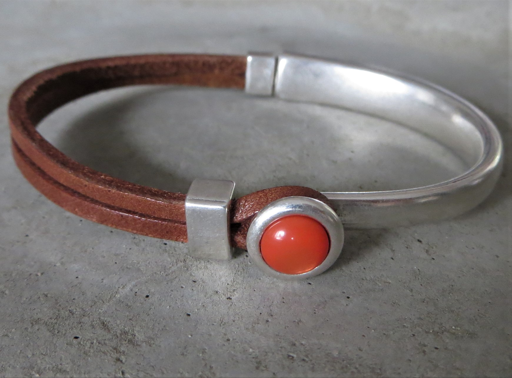 Armbaender - QOSS Armband EVA Braun Orange L  - Onlineshop Tante Emmer
