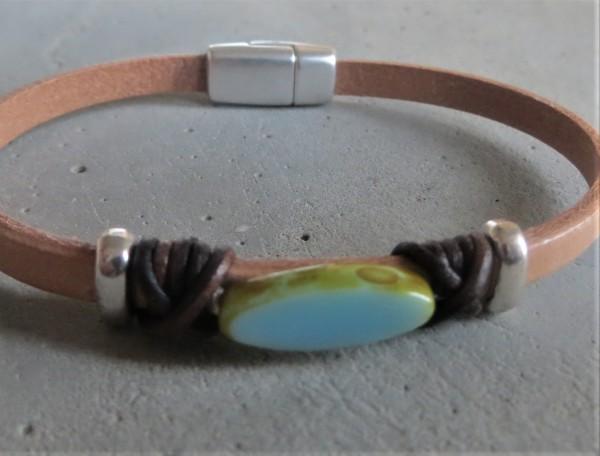 QOSS Armband JULIA natural-lichtblau M