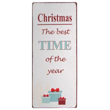 Metall Schild Christmas the best TIME of the year von Ib Laursen ApS